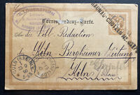 1890 Nachod Austria Empire Stationery Postcard Cover To Koln Germany
