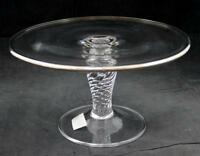 Rogaska PLATINUM Cake Stand with Twist Stem A+ CONDITION