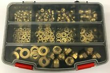 250No, M4, M5, M6, M8, M10, Solid Brass, Dome Nut & Washer Assortment.