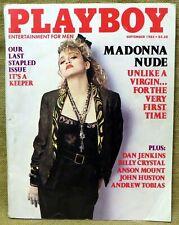 PLAYBOY MAGAZINE SEPTEMBER 1985 MADONNA Excellent, LAST STAPLED ISSUE