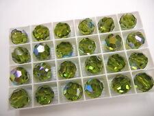4 vintage swarovski crystal beads,16mm olivine AB #5000