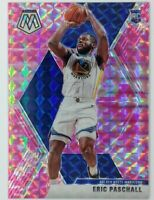 2019-20 Panini Mosaic Pink Camo Prizm ERIC PASCHALL Rookie RC #250, Warriors