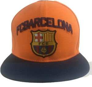 FC Barcelona Orange Snapback Cap Mens Hat