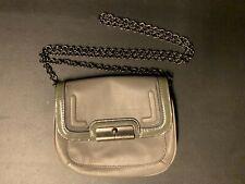 Coach Crossbody Bag Kristin Small 46004 Gray Leather Chain Strap B9