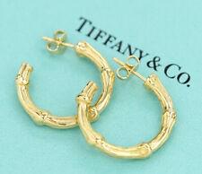 TIFFANY&Co Bamboo Hoop Earrings 18k Yellow Gold k451