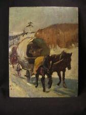 Paul Ehrenberg Dresden Plauen Jugendstil :  Pferde Fuhrwerk Winter Thomas Mann