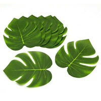24PCS/Set Green Leaves Tropical Hawaiian Luau Moana Party Table Decorations NEW