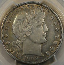 1908-O Barber Half Dollar PCGS VF 35 XF? Toned with peripheral Luster
