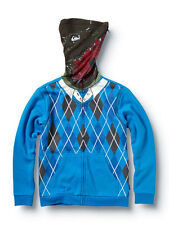 Quiksilver Boys Irony Blue Hoodie Sweatshirt Sweater Jackets Medium 12-14 210787