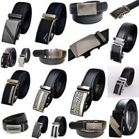 QHA Mens Womens Designer Belts Luxury Automatic Ratchet Belt Waist Auto Buckle