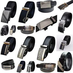 QHA Mens Womens Designer Belts Luxury Automatic Ratchet Belt Waist Auto Buckle
