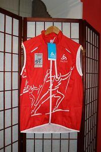 Tour de Ski  Val Mustair Odlo Zeroweight Ski Vest Men size L . with Tags . ALY
