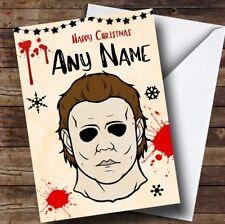 Michael Myers Halloween Personalised Christmas Card