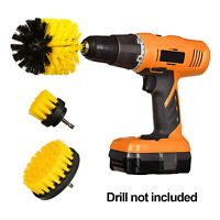 Drill Brush Set Power Scrubber Cleaning Kit Attachments 3 Pieces All Purpose