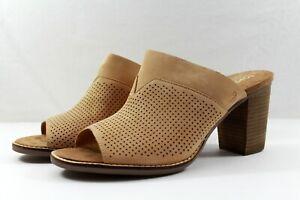 TOMS Majorca Mule Sandstorm Nubuck Perforated Sandal NEW NIB Size 11 $109 Retail