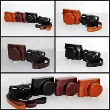 Camera PU Leather Bag Case Cover Pouch For Canon PowerShot G1X Mark II G1X2 M2