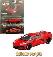 TSM 1:64 MINI GT 2020 Chevrolet Corvette Stingray C8 Diecast Torch Red MGT00150