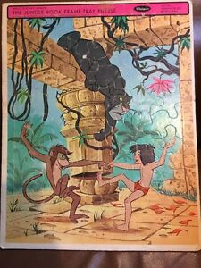 Vintage 1967 Whitman Framed Tray Puzzle The Jungle Book No. 4524