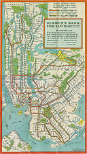 New York City NYC Subway System Map Train Transit IRT BMT IND Wall Poster Print