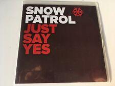 Snow Patrol 2trk PROMO CD Just Say Yes