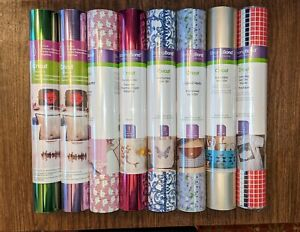 Cricut Strong Bond and Foil Iron-On Lot - 8 Rolls (Multi Colors/Samplers)