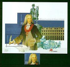 [Portugal 1999 – Marquis de Pombal, statesmen] Souvenir Sheet and set perfec MNH