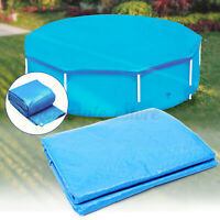 10/12/15ft Above Ground Swimming Pool Winter Cover Round Frame Easy Set Blue