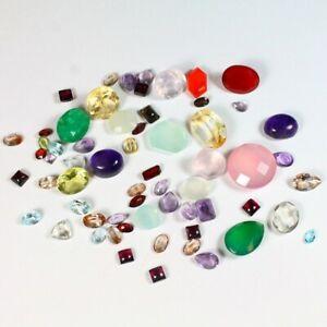 94.15 Total Carats of Faceted Medium + Small Gemstones w/ Emerald Exact Lot 6130