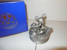Pewter Mickey Mouse and Pluto Statue from Disneyana Convention 1998