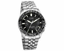 Citizen Eco-Drive CB0020-50E Men's Black World Perpetual AT Watch Missing Links