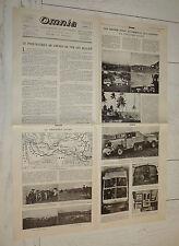 FAC-SIMILE A LA UNE JOURNAL OMNIA 08 1931 CROISIERE JAUNE NOIRE CITROËN AUTO