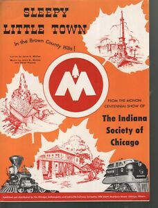 Sleepy Little Town 1947 Monon Centennial Show of the Indiana Society of Chicago