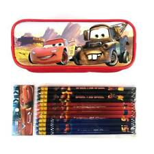 Disney Cars Mc Queen red Pencil pouch bundled with 12x Pencils School Supply