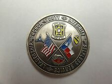 CHALLENGE COIN COMMANDERS COIN SILVER EAGLES FIGHTING 15 SWIFT SUPPORT