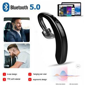 Bluetooth 5.0 Headset Wireless Earpiece Handsfree Earphone Earbuds Waterproof