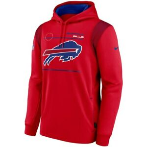 Brand New 2021 NFL Buffalo Bills Nike Sideline Logo Performance Pullover Hoodie