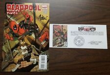 Deadpool Suicide Kings #2 signed Mike McKone with Notarized Witness of Signature