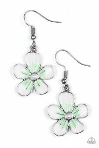 Havana Harmony Green Flower Paparazzi Earring
