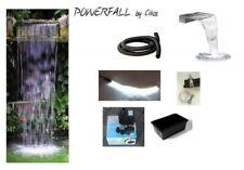 Powerfall LED Wasserfall Set Eco 45cm anschlussfertig inkl. Pumpe, Wasserbecken