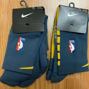 NIKE ELITE Warriors Player Issued NBA GRIP POWER 2 Pairs Grey Socks 2XL 15-18