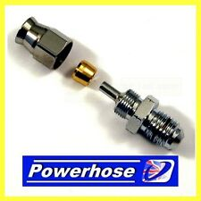 Compression fitting 3/8 unf male hose end convex seat. suit -3 hose 3/10375MHC