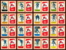 1982-83 Post Cereal Quebec Nordiques Stastny NHL Hockey Mini Card Set of 16