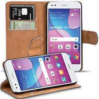 Handy Hülle für Huawei Y6 Pro 2017 Case Schutz Tasche Cover Basic Flip Bookcase