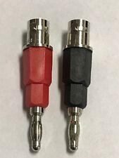 1 Red and 1 Black BNC Female to Single Banana Plug Adapter