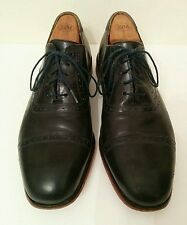 Florsheim by Duckie Brown Navy Blue Oxford Captoe Dress Shoes 10 D