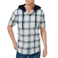 AMERICAN RAG CIE NEW Men's Hooded Button-Front Shirt TEDO