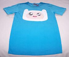Adventure Time Mens Finn Face Blue Printed T Shirt Size XXS New