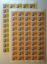 1972  ITALIA   25+50 lire Giovanni Verga   fogli interi MNH**