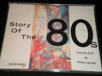 Story of the 80s - 2 CD's Album - RARE British Airways - 24 Great Eighties Hits