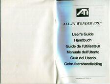 Anleitung,Manual:All in Wonder Pro,Audio-Video Beschleunigerkarte,nur Anleitung